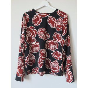 Who What Wear Silky Floral Blouse